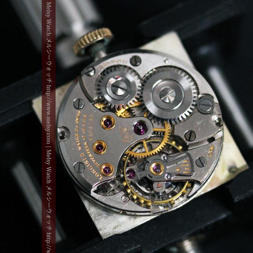 ロンジンのダイヤモンド入り金無垢アンティーク腕時計-W1130-16