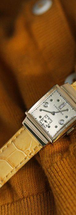 ロンジンのダイヤモンド入り金無垢アンティーク腕時計-W1130-3