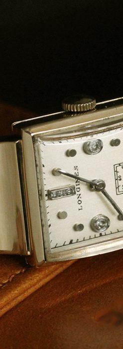 ロンジンのダイヤモンド入り金無垢アンティーク腕時計-W1130-5