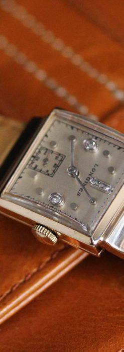 ロンジンのダイヤモンド入り金無垢アンティーク腕時計-W1130-6