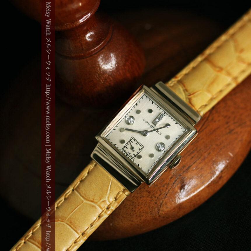 ロンジンのダイヤモンド入り金無垢アンティーク腕時計-W1130-7