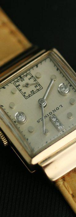 ロンジンのダイヤモンド入り金無垢アンティーク腕時計-W1130-8