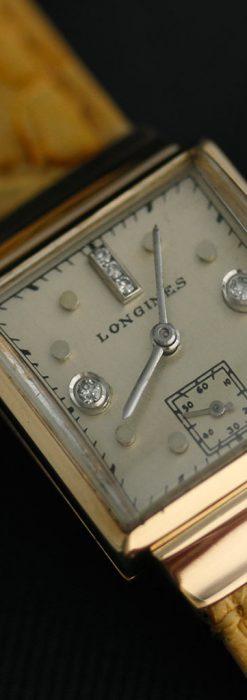 ロンジンのダイヤモンド入り金無垢アンティーク腕時計-W1130-9