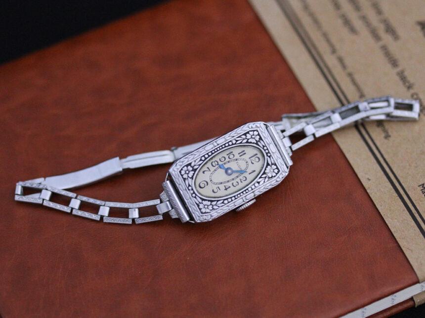 エルジンのアンティーク腕時計-W1379-12