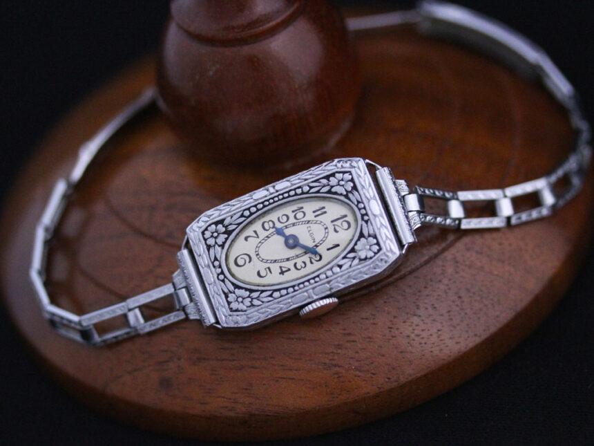 エルジンのアンティーク腕時計-W1379-7