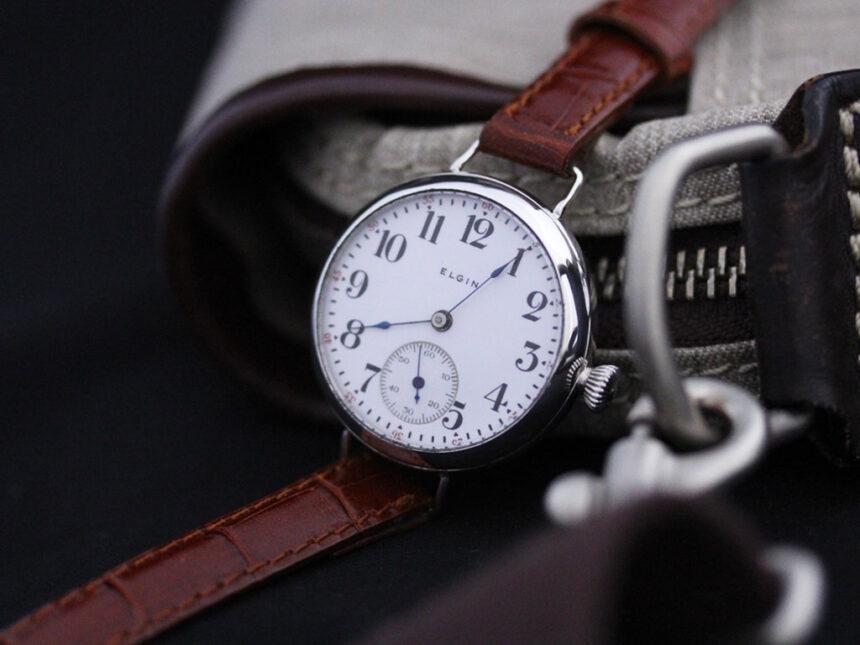 エルジンのアンティーク腕時計-W1383-1