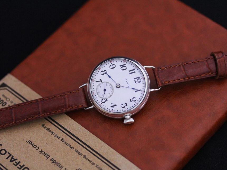 エルジンのアンティーク腕時計-W1383-10