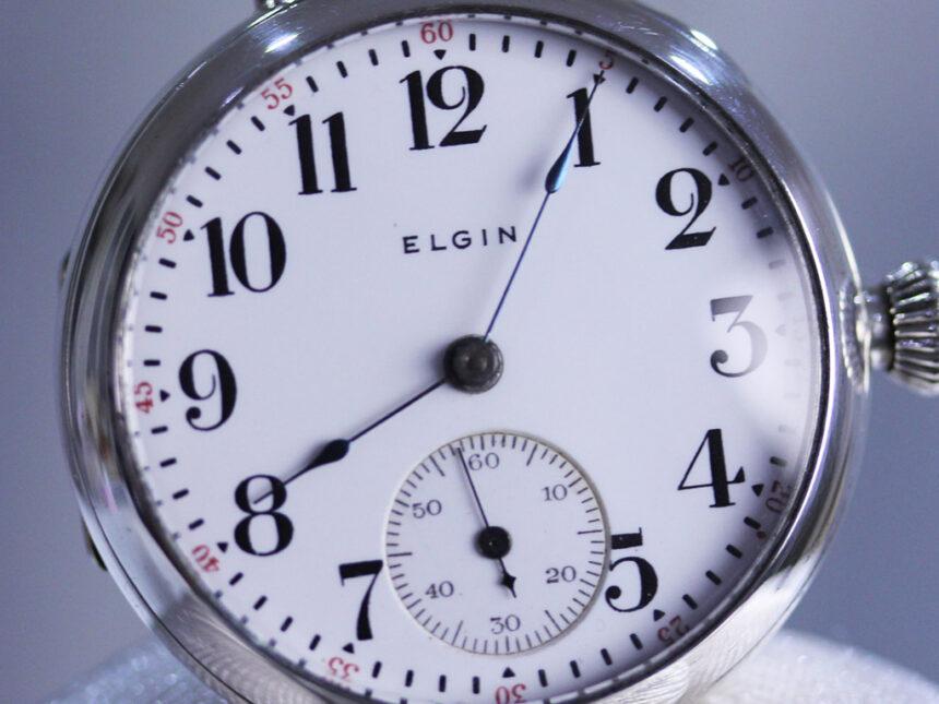 エルジンのアンティーク腕時計-W1383-12