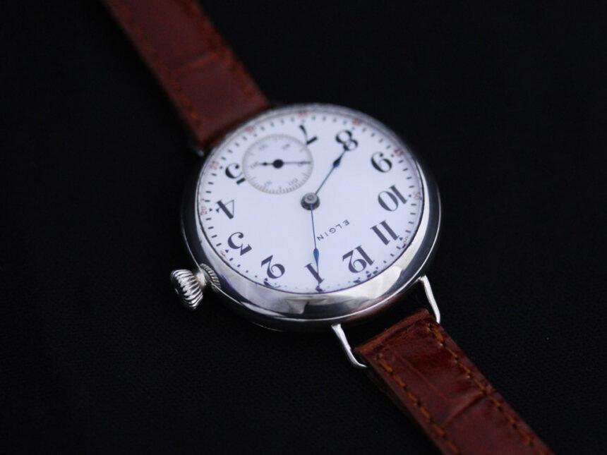 エルジンのアンティーク腕時計-W1383-13