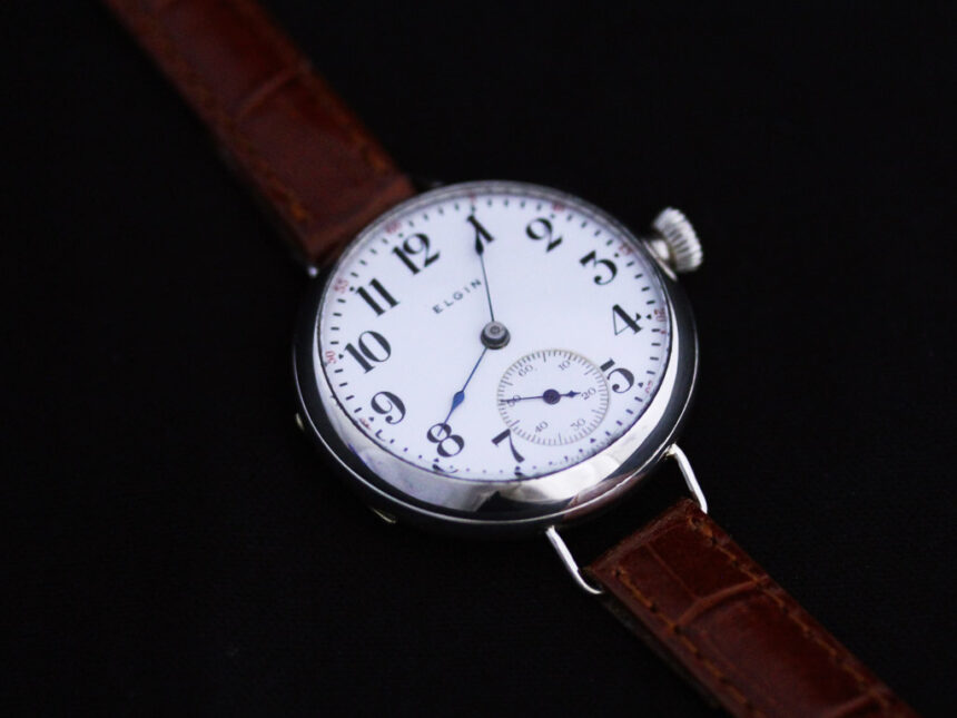 エルジンのアンティーク腕時計-W1383-14