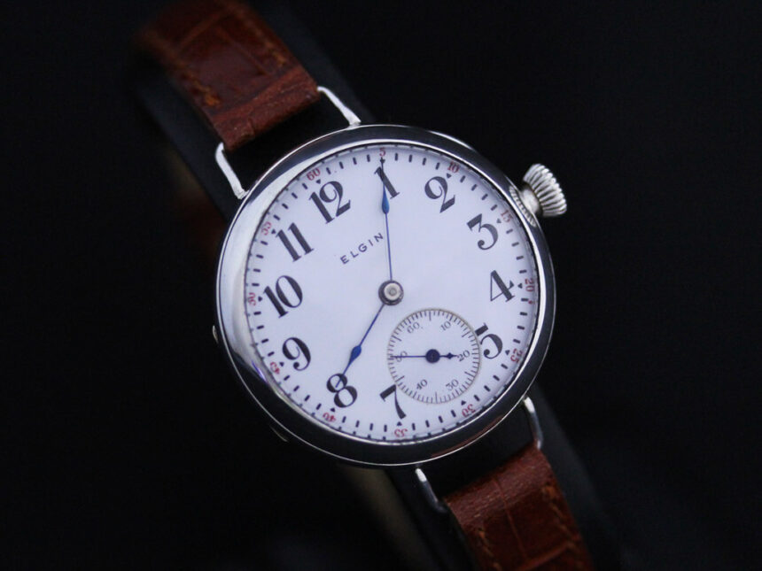 エルジンのアンティーク腕時計-W1383-15