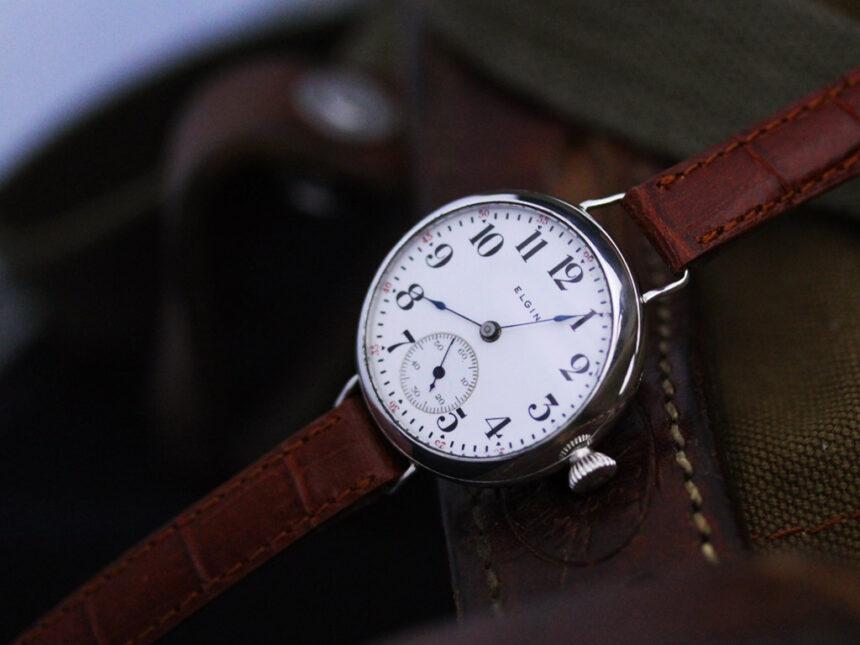 エルジンのアンティーク腕時計-W1383-3