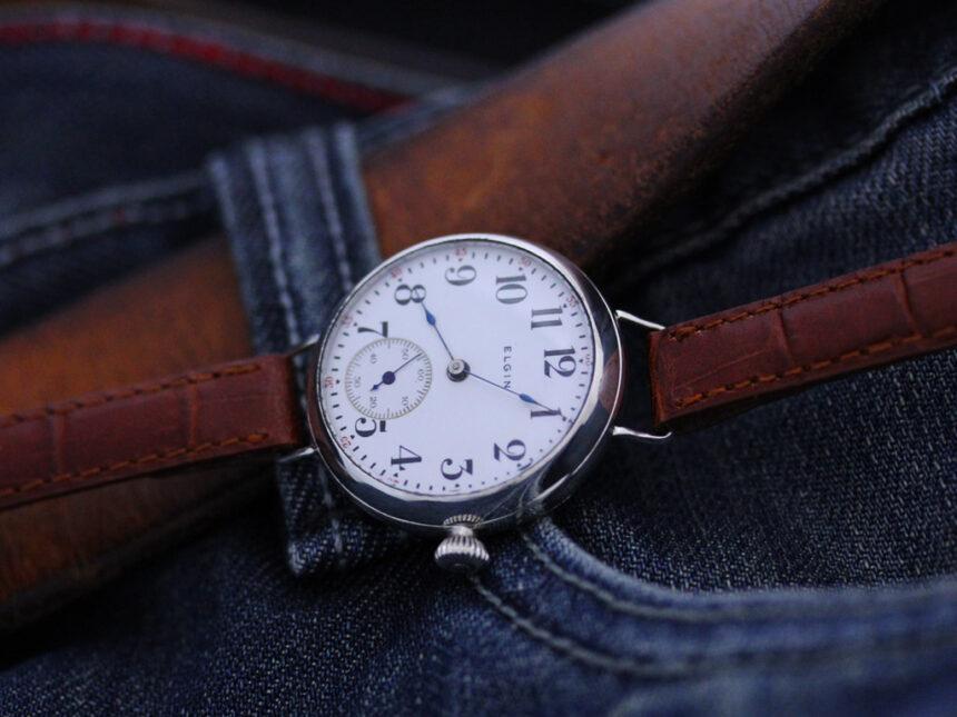 エルジンのアンティーク腕時計-W1383-4