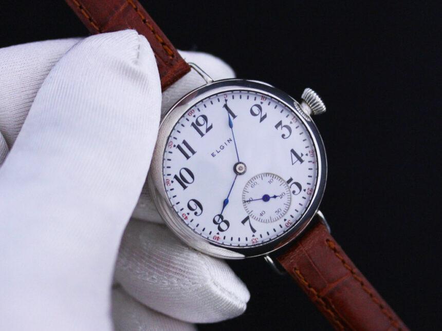 エルジンのアンティーク腕時計-W1383-5