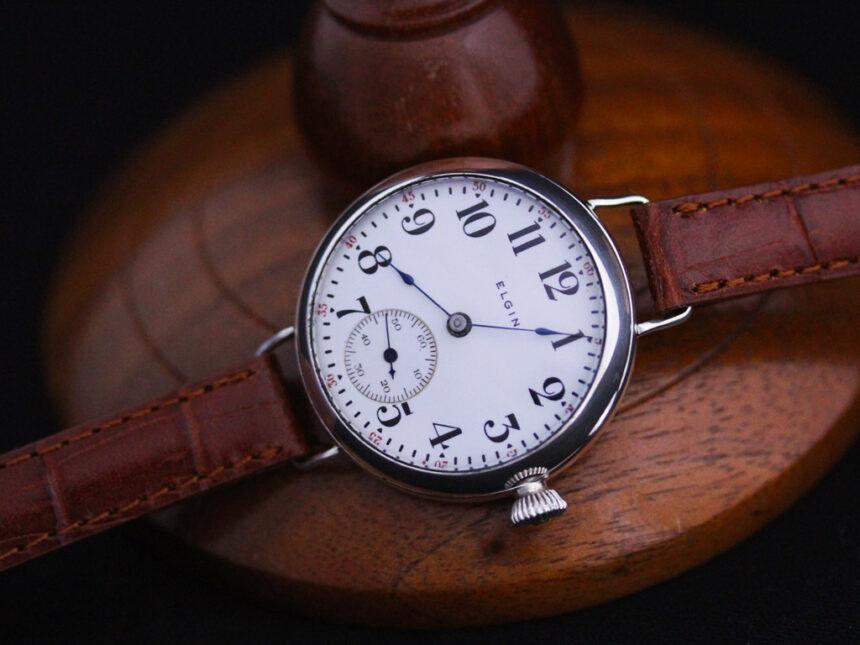 エルジンのアンティーク腕時計-W1383-6