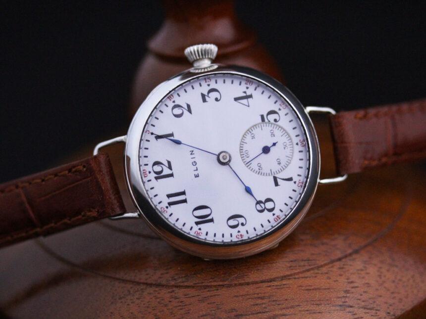 エルジンのアンティーク腕時計-W1383-7