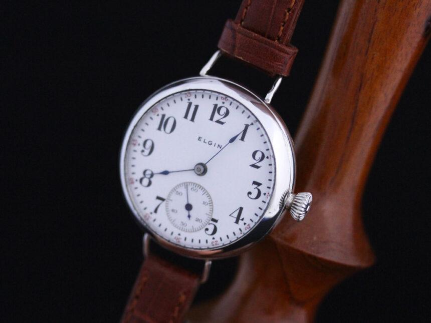 エルジンのアンティーク腕時計-W1383-8