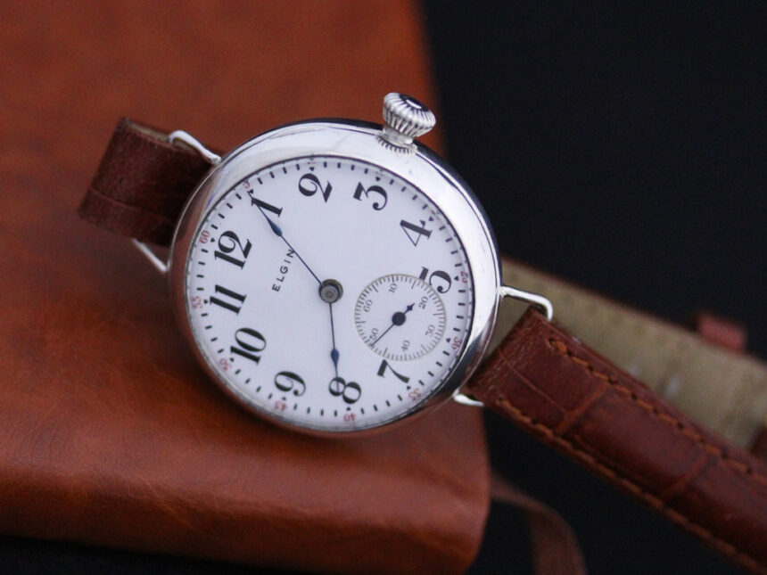 エルジンのアンティーク腕時計-W1383-9