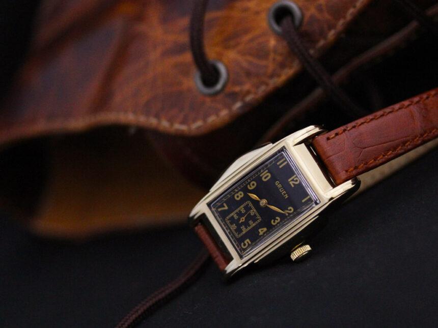 グリュエンのアンティーク腕時計-W1385-1