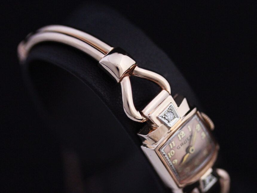 グリュエンの女性用アンティーク腕時計-W1396-12