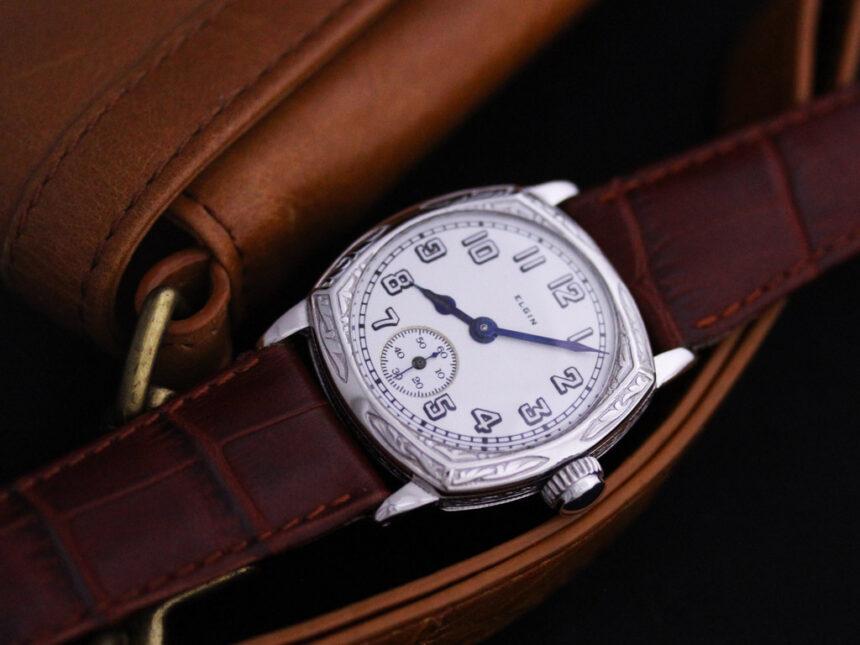 エルジンのアンティーク腕時計-W1399-1