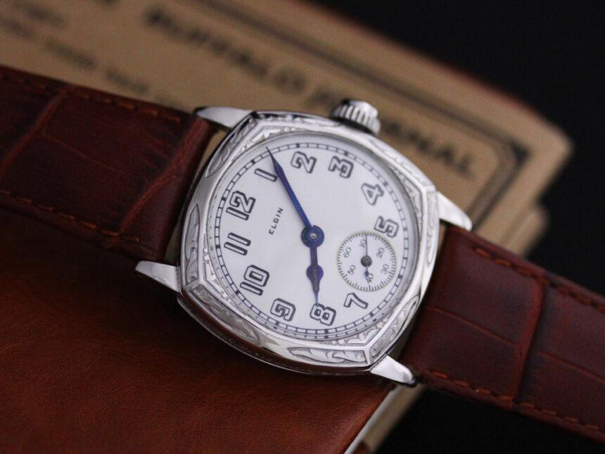 エルジンのアンティーク腕時計-W1399-13