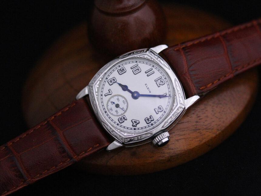 エルジンのアンティーク腕時計-W1399-5
