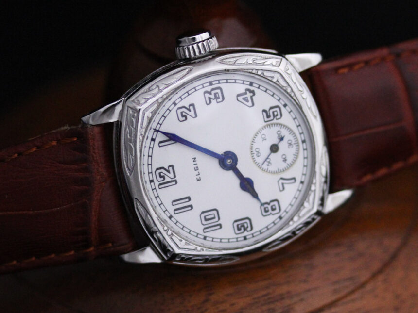エルジンのアンティーク腕時計-W1399-7