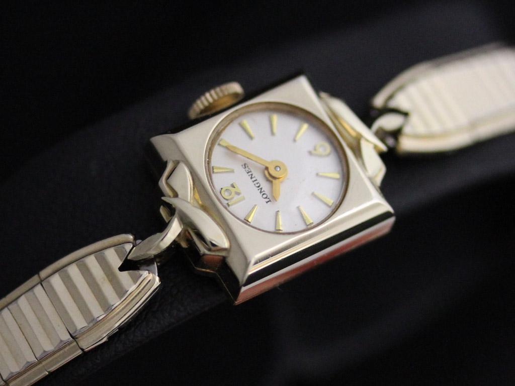 ロンジンの女性用アンティーク腕時計-W1400-2