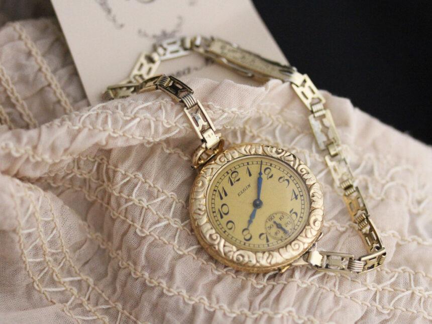 エルジンのアンティーク腕時計-W1402-1