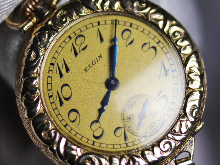 エルジンのアンティーク腕時計-W1402-15