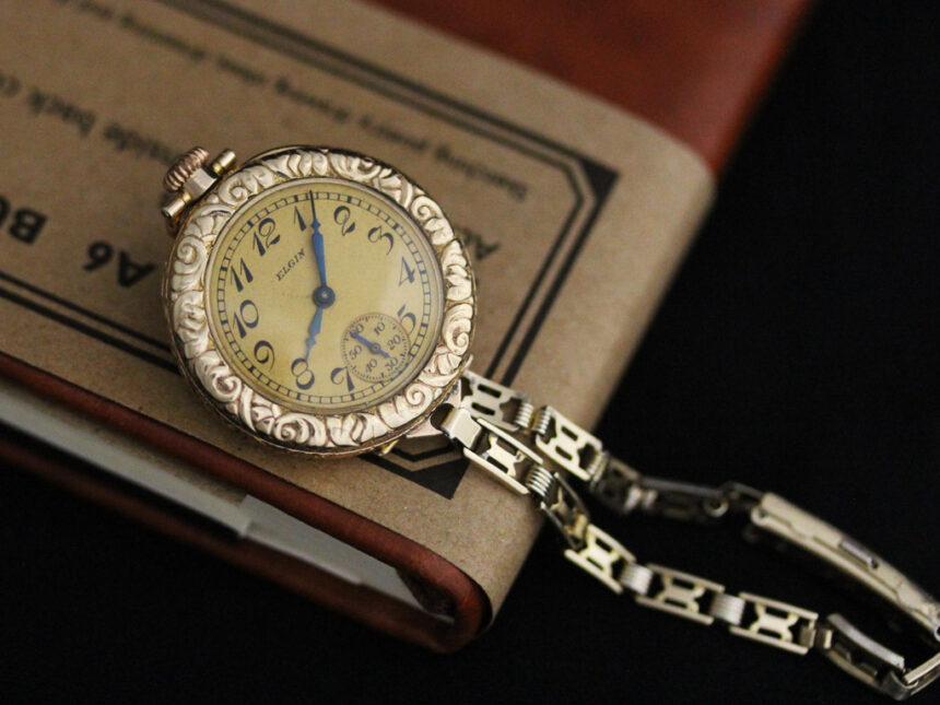 エルジンのアンティーク腕時計-W1402-3