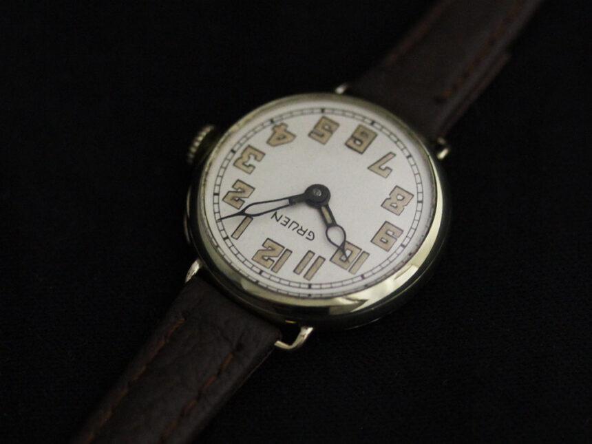 グリュエンのアンティーク腕時計-W1405-7