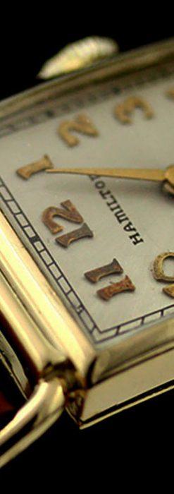 ハミルトン1941年製の縦長のアンティーク腕時計-W1082-2