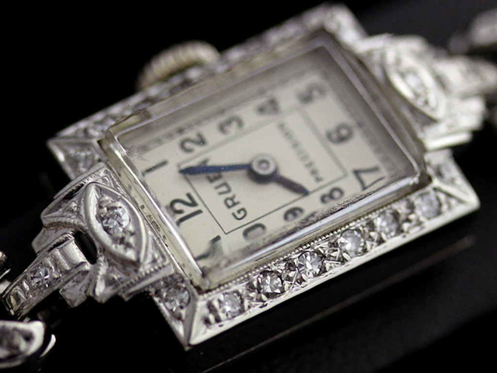 グリュエンのアンティーク腕時計-W1254-15
