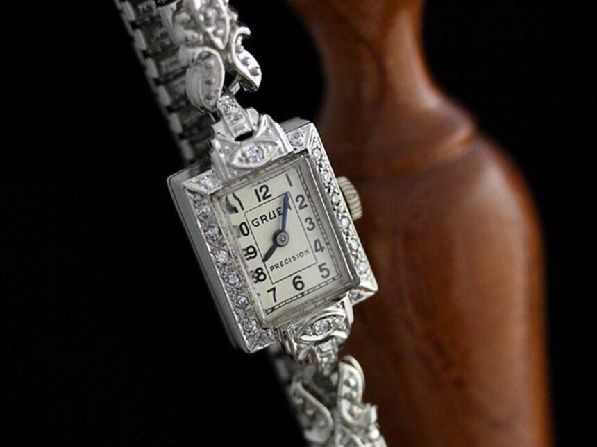 グリュエンのアンティーク腕時計-W1254-3