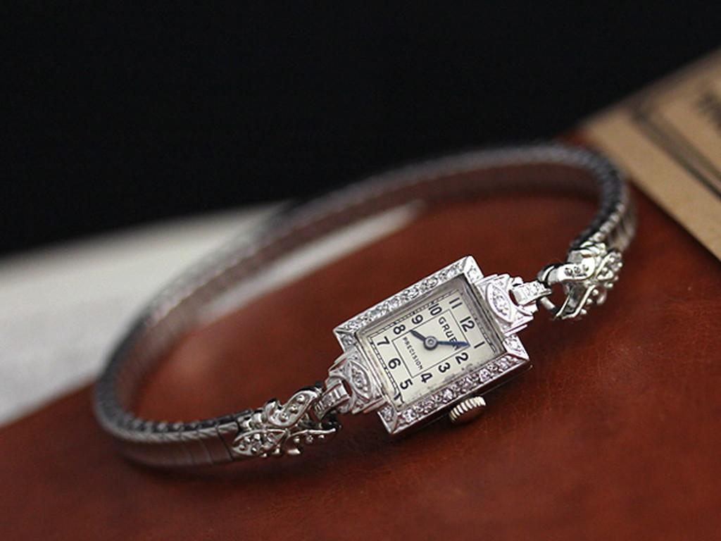 グリュエンのアンティーク腕時計-W1254-8