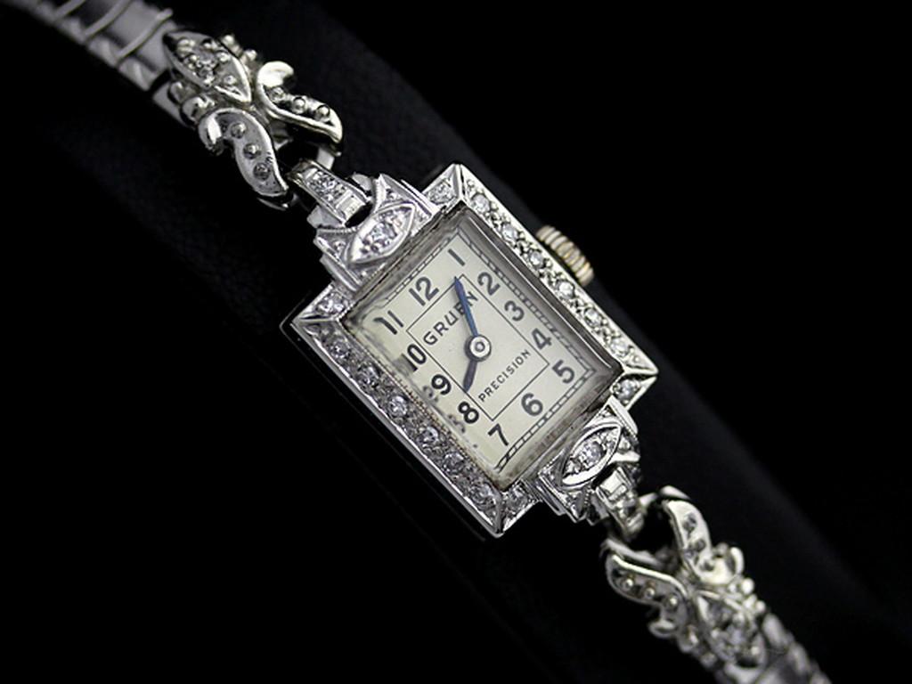 グリュエンのアンティーク腕時計-W1254-9
