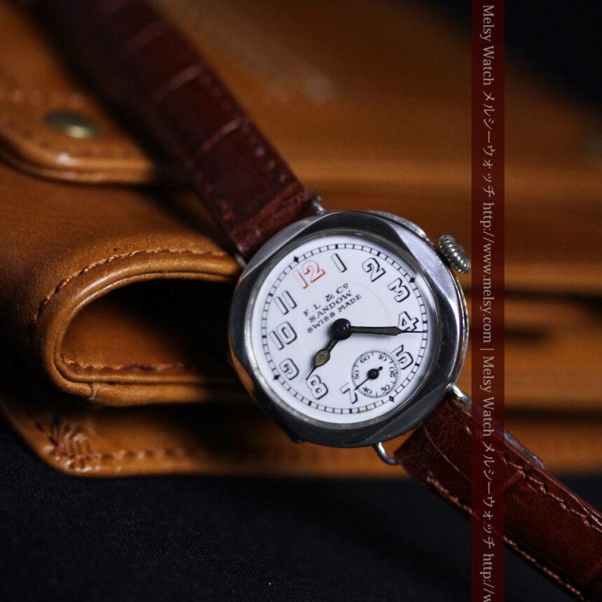 スイス製のアンティーク腕時計-W1433-2