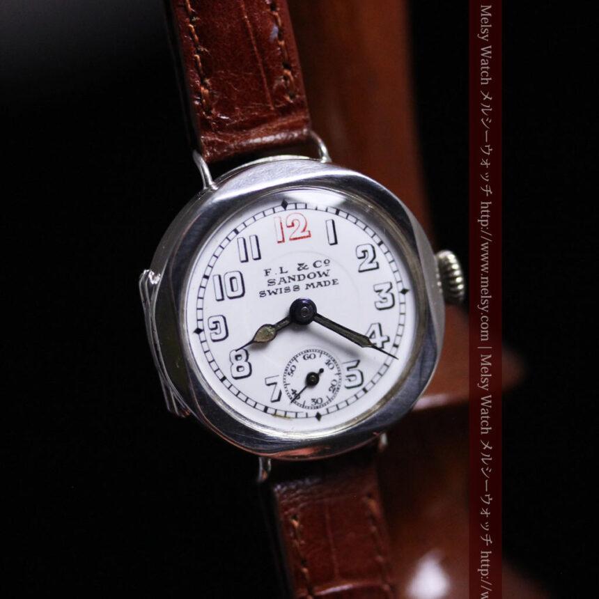 スイス製のアンティーク腕時計-W1433-9