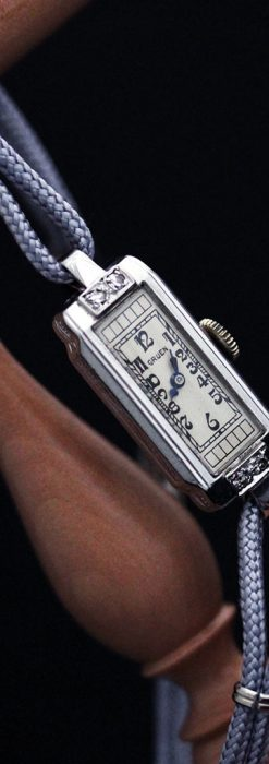 細長いグリュエンの女性用アンティーク腕時計-W1442-10