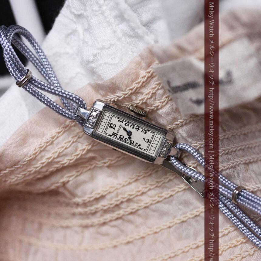 細長いグリュエンの女性用アンティーク腕時計-W1442-2