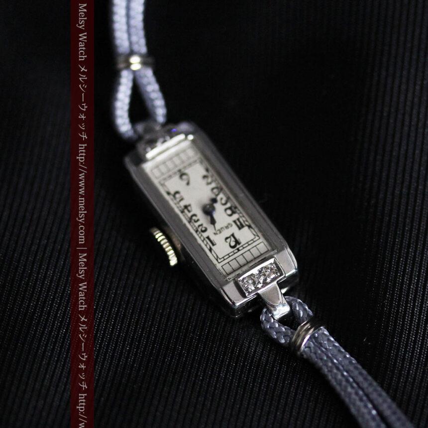細長いグリュエンの女性用アンティーク腕時計-W1442-7