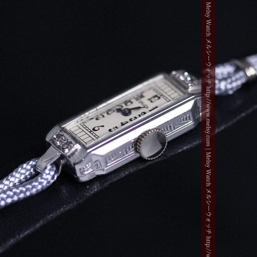 細長いグリュエンの女性用アンティーク腕時計-W1442-9