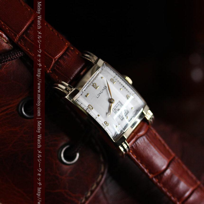 ロンジンの1949年製のアンティーク腕時計-W1444-1