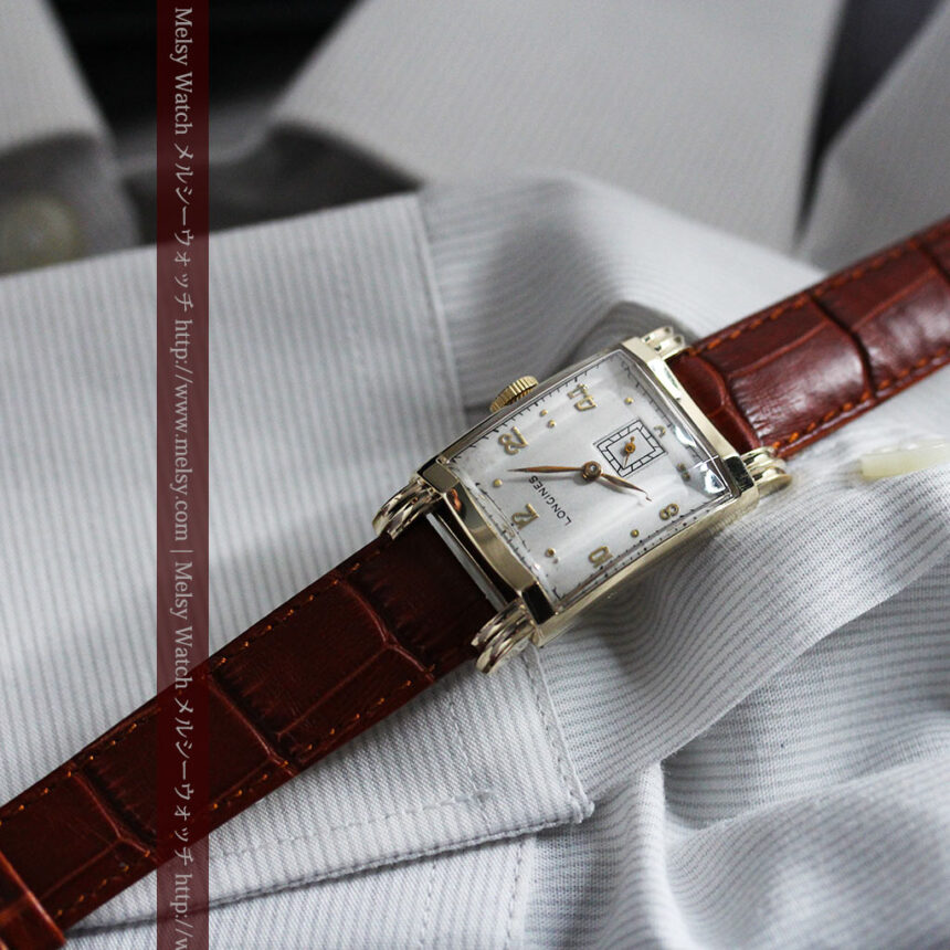 ロンジンの1949年製のアンティーク腕時計-W1444-2