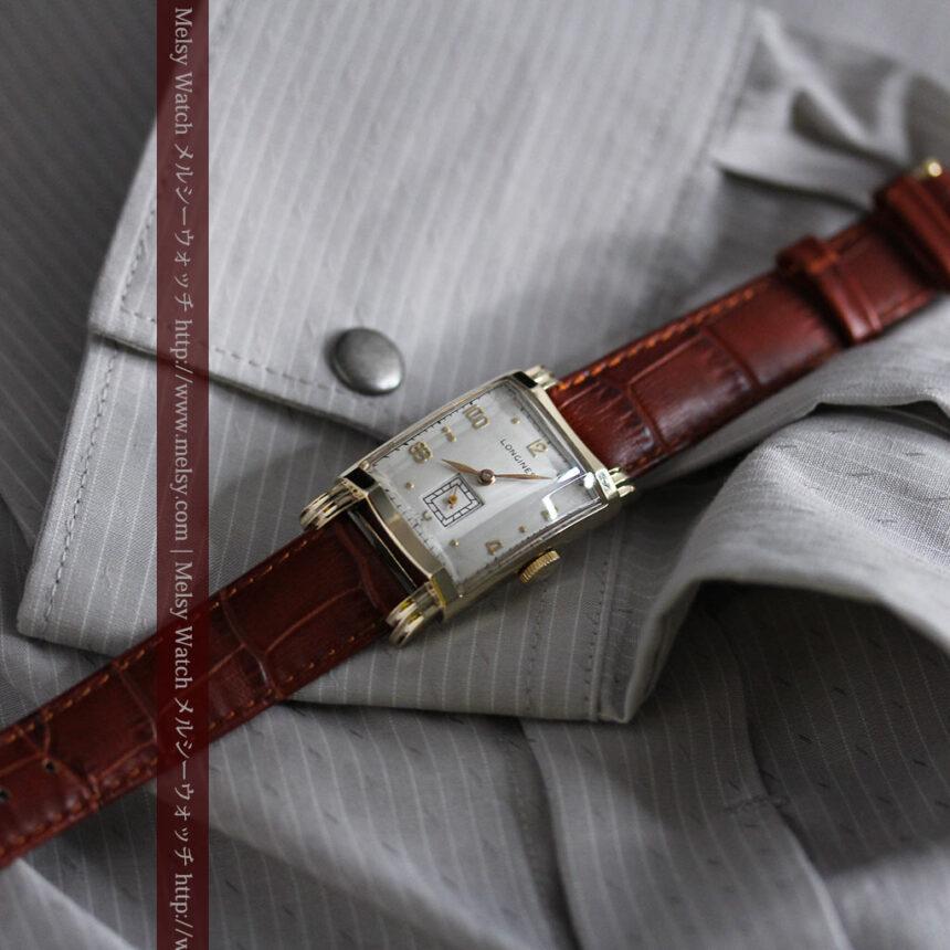ロンジンの1949年製のアンティーク腕時計-W1444-4