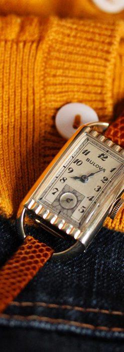 ブローバ女性用の1939年製アンティーク腕時計-W1445-1