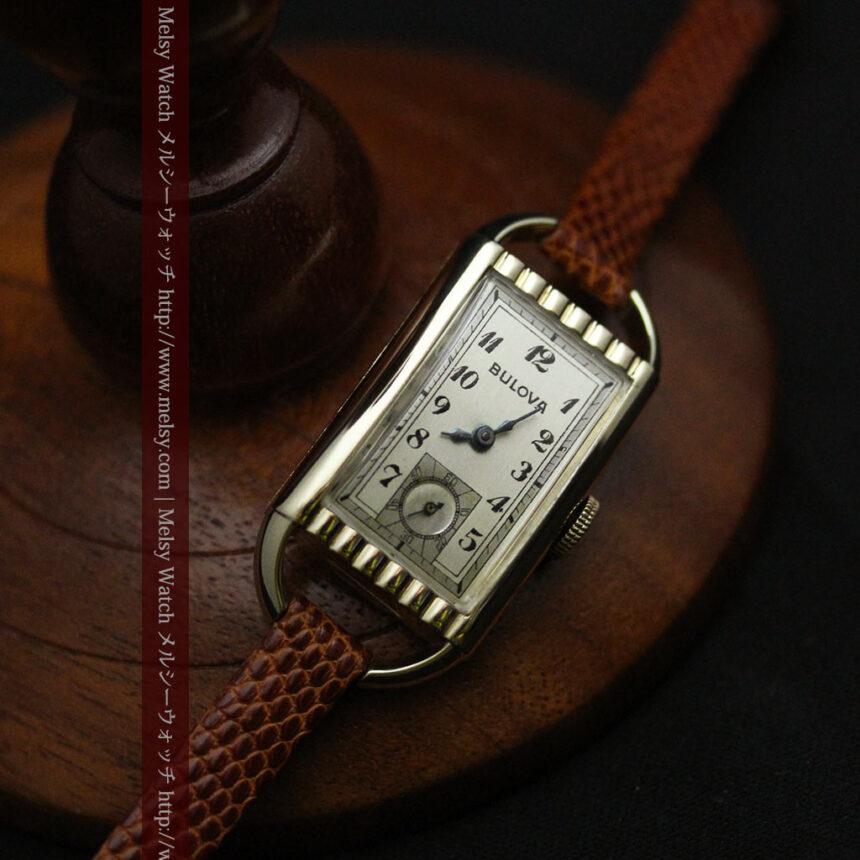 ブローバ女性用の1939年製アンティーク腕時計-W1445-10