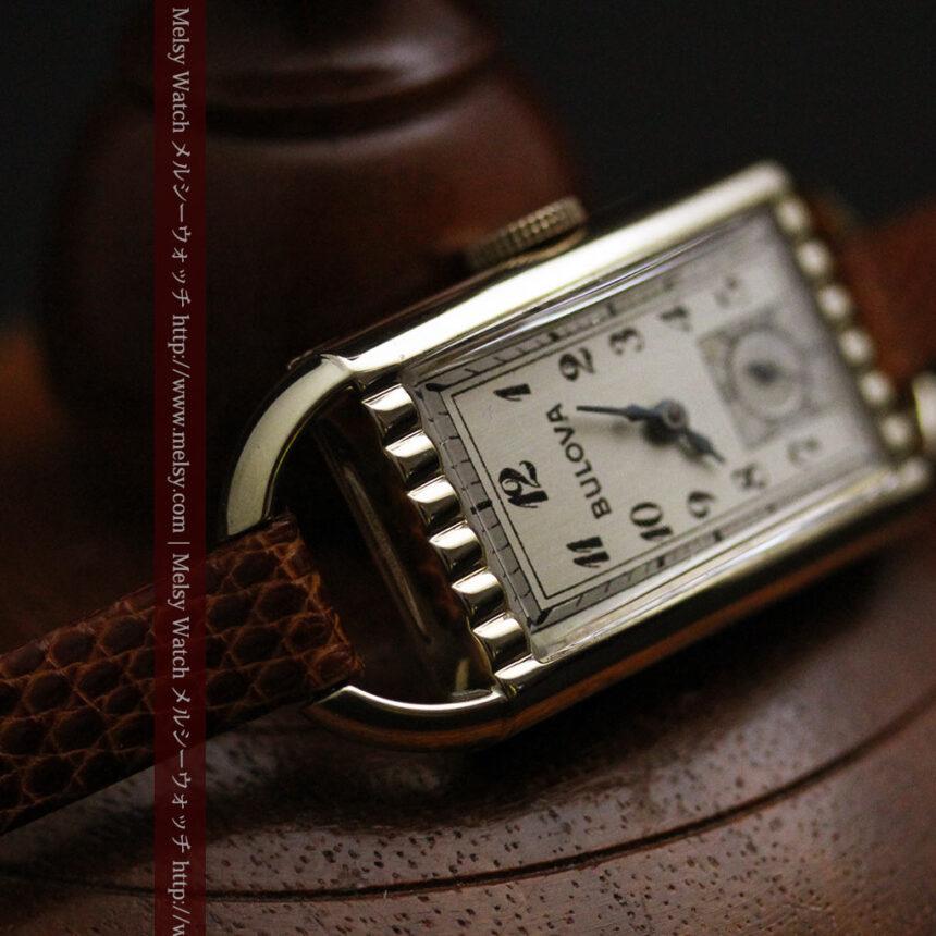 ブローバ女性用の1939年製アンティーク腕時計-W1445-11